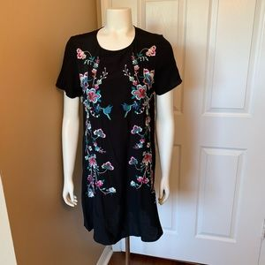 Express black embroidered dress size XS